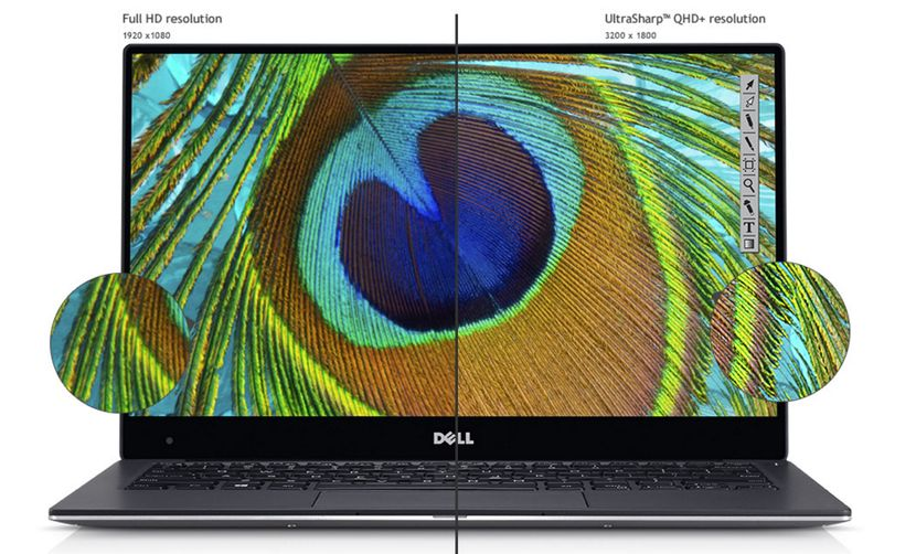 DELL XPS 13 Laptop pantalla sin marcos